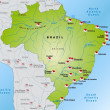 Map of Brazil — Stok Vektör #40912577
