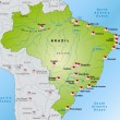 Stock Vector: Map of Brazil