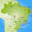 Map of Brazil — Stok Vektör #40913821