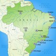 Map of Brazil — Stock vektor #40914271