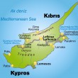 Stock Vector: Map of Cyprus