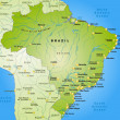 Map of Brazil — Stok Vektör #40919377
