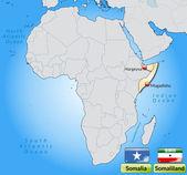 Mappa della somalia — Vettoriale Stock