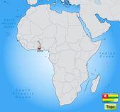 Mapa de togo — Vector de stock