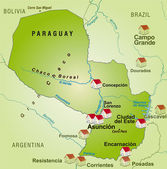 Map of Paraguay — Stock Vector