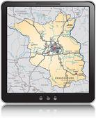 Karta över brandenburg — Stockvektor