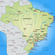 Map of Brazil — Stockvector #40922489