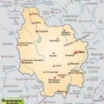 ������, ������: Map of Burgundy