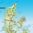Постер, плакат: Map of Denmark