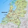 Постер, плакат: Map of Netherlands