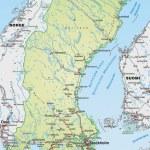 Постер, плакат: Map of Sweden