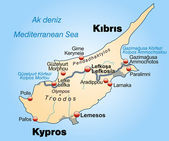 Map of Cyprus — Stock Vector