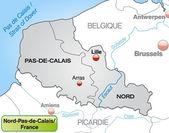 Map of North-pas-de-calais — Stock Vector