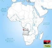 Kaart van angola — Stockvector