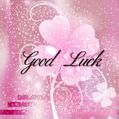 Greeting Card Good Luck — Stock Photo
