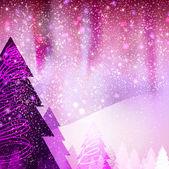 Quadratic winter landscape — Stock Photo