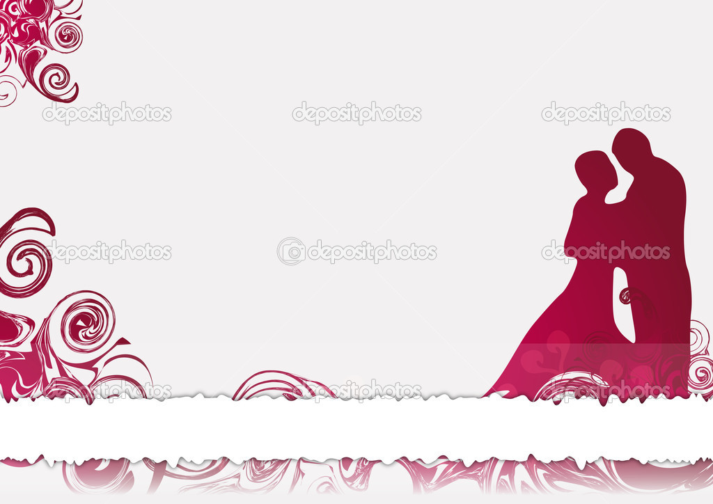 carte de f licitations pour mariage image vectorielle artalis 41195275. Black Bedroom Furniture Sets. Home Design Ideas