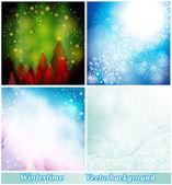 Background winter — Stok Vektör