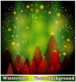 Jul säsong bakgrund — Stockvektor
