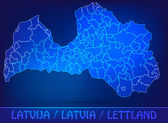 Map of Latvia — Stock Vector
