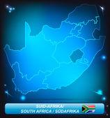 Güney afrika haritası — Stok Vektör