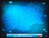 Kaart van Bulgarije — Stockvector