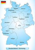 карта германии — Cтоковый вектор