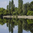 Reflection on lake — Stock Photo