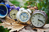 Ancient alarm clocks — Stock Photo