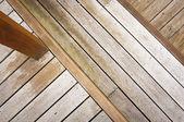 Drewniany taras — Zdjęcie stockowe