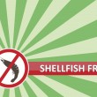 Shellfish Free Banner — Stock Vector