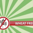 Stock Vector: Wheat Free Banner