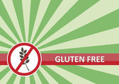 Gluten Free Banner — Stock Vector