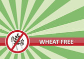 Wheat Free Banner — Stock Vector