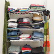 Stock Photo: Clothes Rack Wardrobe