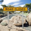 Stock Photo: Road Closed Sign
