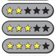 Star Ratings — Stok Vektör #19508405