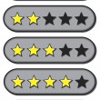 Star Ratings — Vector de stock #19508405