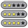 clasificación por estrellas — Vector de stock