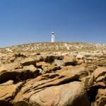 Lighthouse and Rocks — Stock Photo