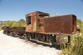 Paslı tren — Stok fotoğraf