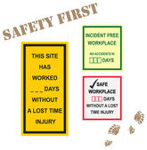 Workplace Safety Signs — Stock Vector