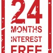 24 Months Interest Free — Stock Vector