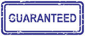 Guaranteed Rubber Stamp — Stock Vector
