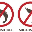Shellfish Free Icons — Stock Vector