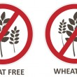 Wheat Free Icons — Stock Vector