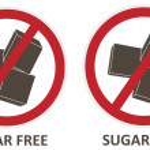 Sugar Free Icons — Stock Vector