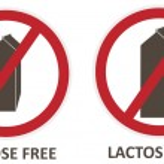 Laktóza volný ikony — Stock vektor