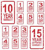 Warranty Stamps — Stock Vector