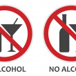 No Alcohol Sign — Stock Vector #25777285